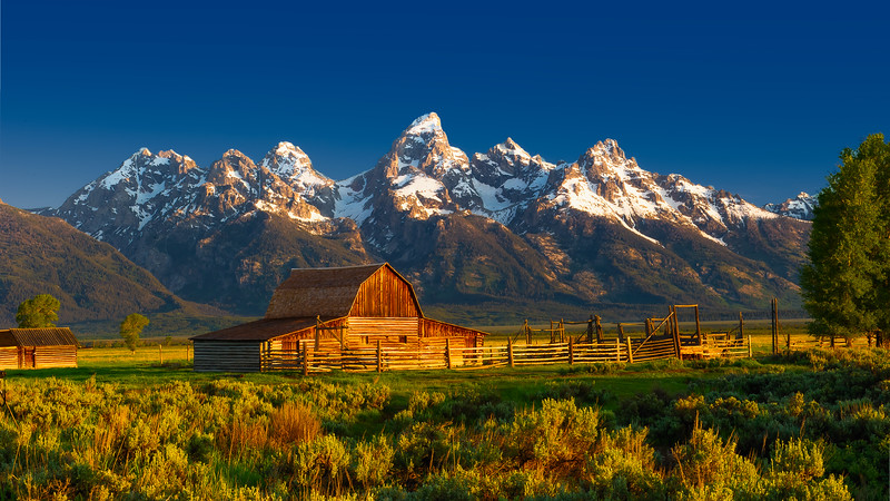 John Moulton Barn; Grand Teton National Park; Wyoming; USA