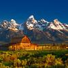 John Moulton Barn; Grand Teton National Park; Wyoming; USA