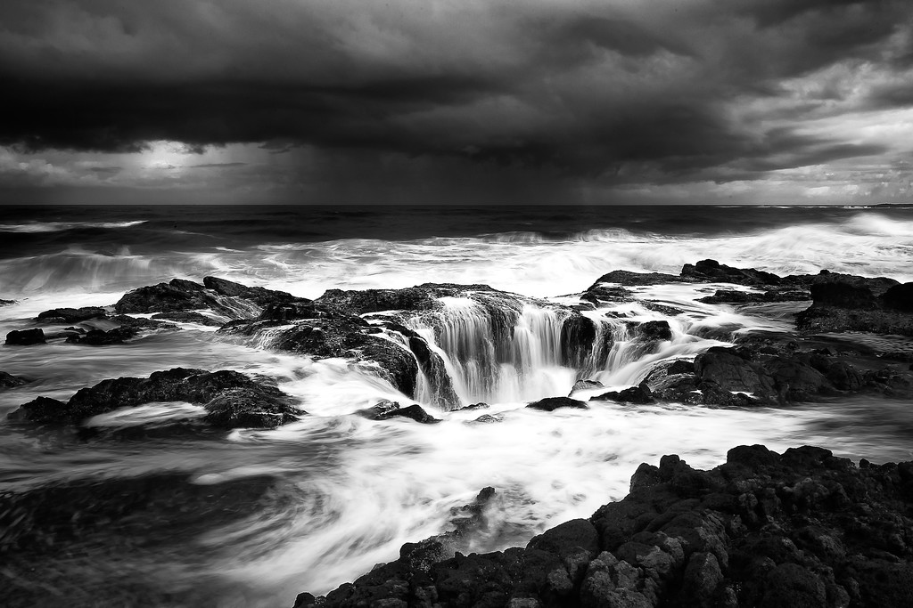 Thor's Well; Cape Perpetua; Oregon; USA