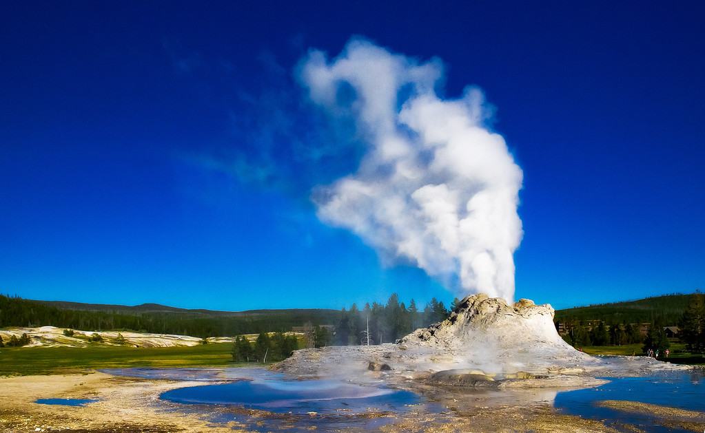 Castle Geyser; Yellowstone National Park; Wyoming; USA