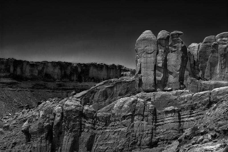 Three Penguins; Arches National Park; Utah; USA