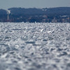 Record-Eagle/Jan-Michael Stump<br /> Grand Traverse Bay's West Arm is frozen over on Monday morning, March 2, 2009, looking south towards Traverse City from between Power Island and Old Mission Peninsula.