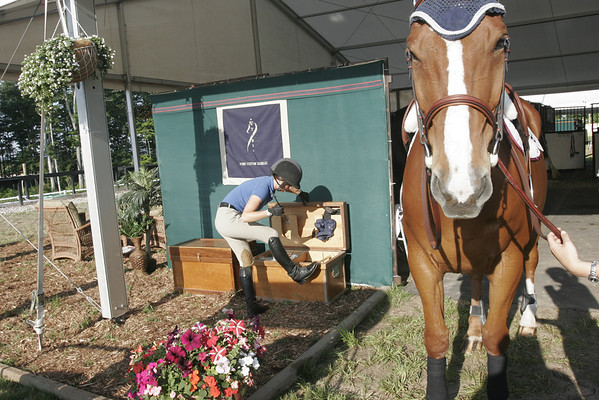 Record-Eagle/Douglas Tesner<br /> <br /> Flintfields Horse Park in Williamsburg is setup and ready to go for the 2008 Horeshows by the Bay.  More then 1000 horses will take part in the event from July 16 to August 3.
