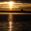 Record-Eagle/Tyler Sipe<br /> The sun rises from the east over Traverse City and Grand Traverse Bay.