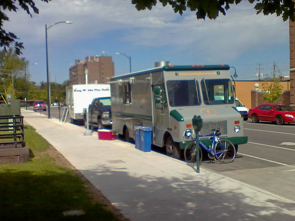 Two Food Trucks on State Street <br /> <br /> Photographer's Name: Steven Terry<br /> Photographer's City and State: Traverse City, MI