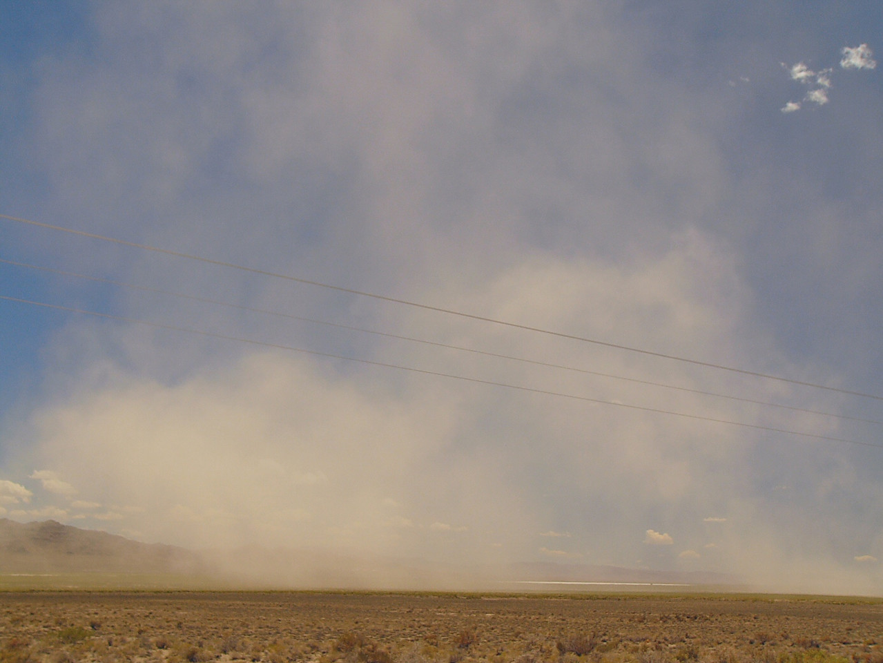 Dust Storm in the Snake Valley, eastern Utah