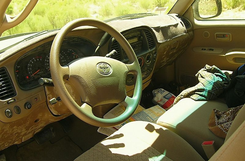 The result of driving on dirt roads in the Great Basin --- Armor-All, anybody?