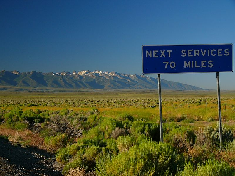 Hey, it's not as if  you weren't warned....The Ruby Mountains near Elko, northern Nevada.