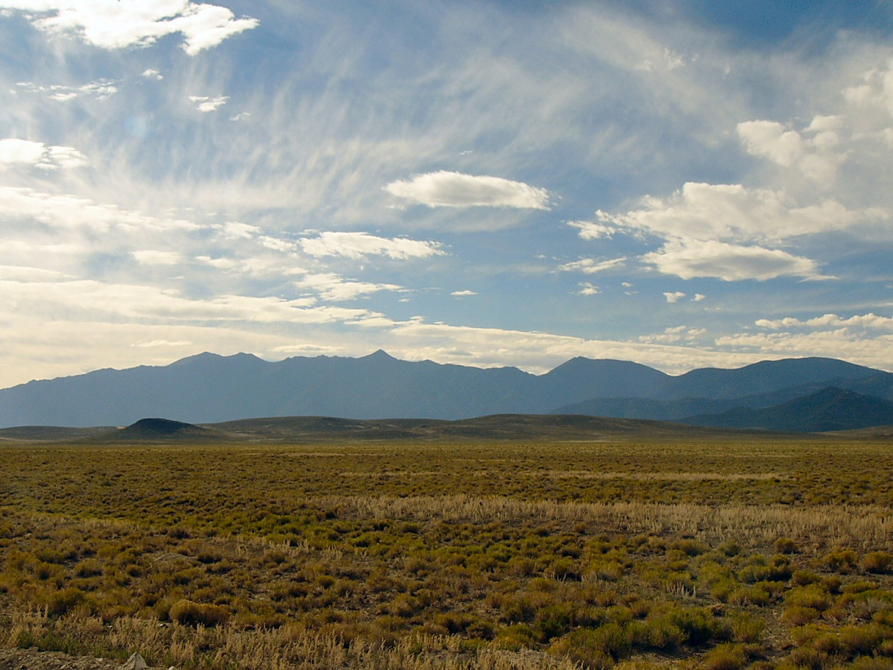 Basin and Range --- Antelope Valley and the Deep Creek Mountains on the Nevada-Utah border