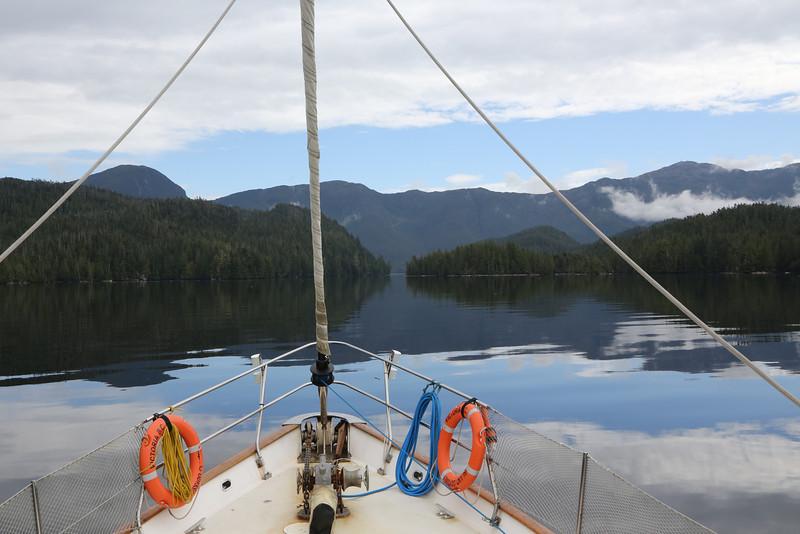 The Island Odyssey heading towards Meyers Narrows