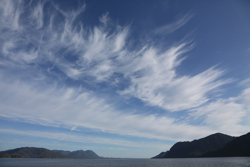 High cirrus clouds over Finlayson Channel