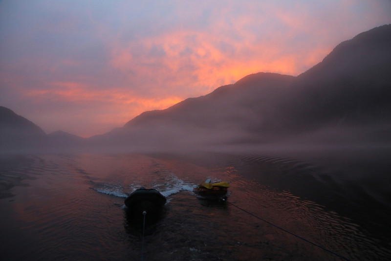 Sunset in Khutze Inlet, and it really was this colour!