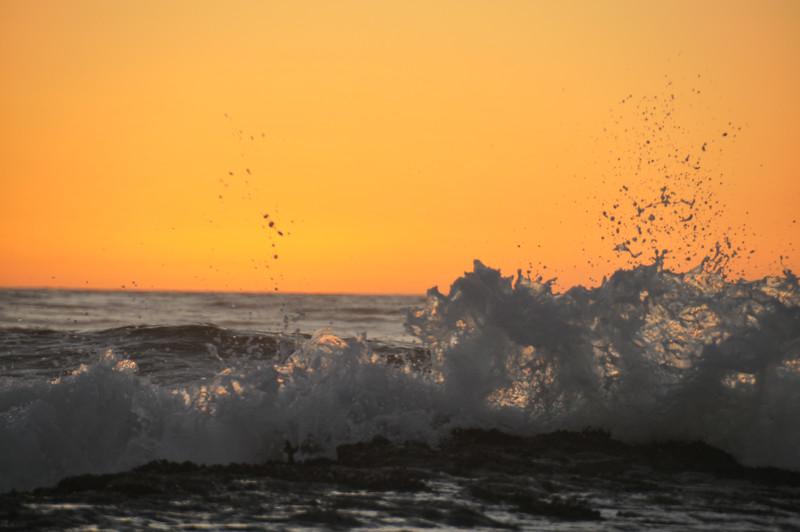 Sunset Waves- Oceanside California