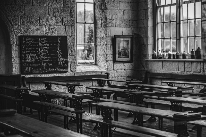 A old fashioned classroom at the Black Country Museum in greater Birmingham. I remember visiting Scotland Street in Glasgow and having a horsing experience. I can only image that this classroom was hell on earth for the kids. 2019.