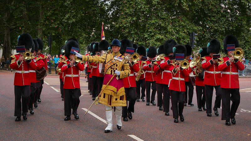 March of Military Band at Buckingham Palace