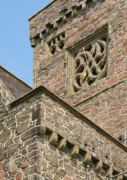 Clock in Iona Abbey