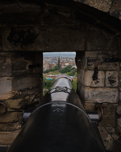 View on the City from Edinburgh Castle