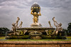 The main fountain at Castle Howard in North Yorkshire England