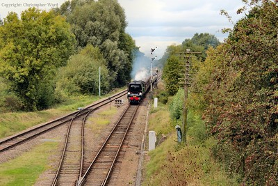 34081 approaches from Loughborough with the Express