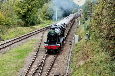 The 8F arrives into Quorn