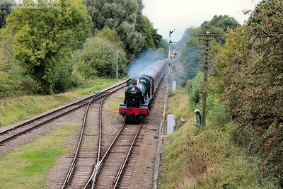 Witherslack Hall arrives with a southbound local