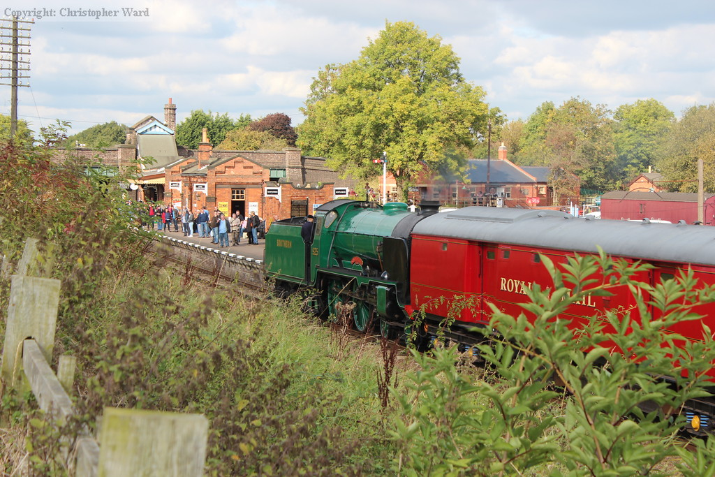 Cheltenham brings the TPO back toward Loughborough after a demonstration run