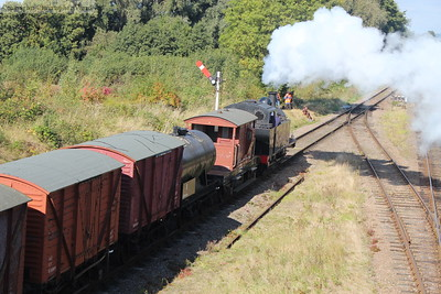 The Jinty passes with the shortened freight