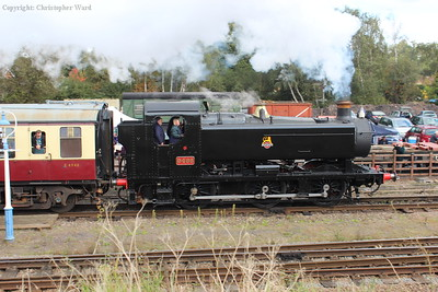 9466 pulls away with the shortened local train