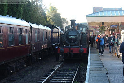 The Jinty arrives with the local train