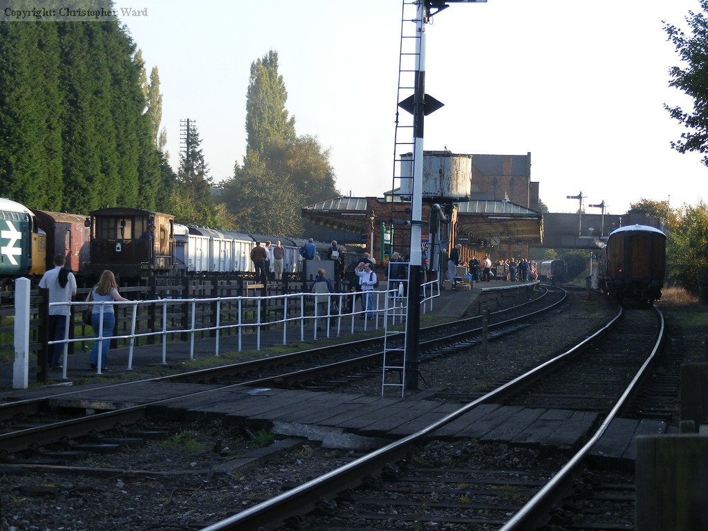 The windcutter and van trains at Loughborough