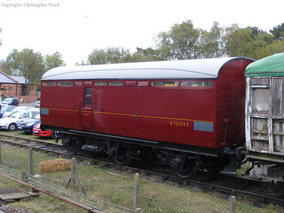 LMS luggage van in the siding at Quorn