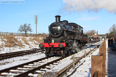 The Ivatt 2mt passes light engine