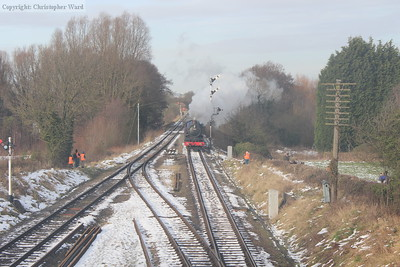 6023 approaches Quorn from Loughborough