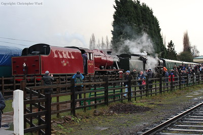 The 8F and Oliver Cromwell provide some heavy haulage capability