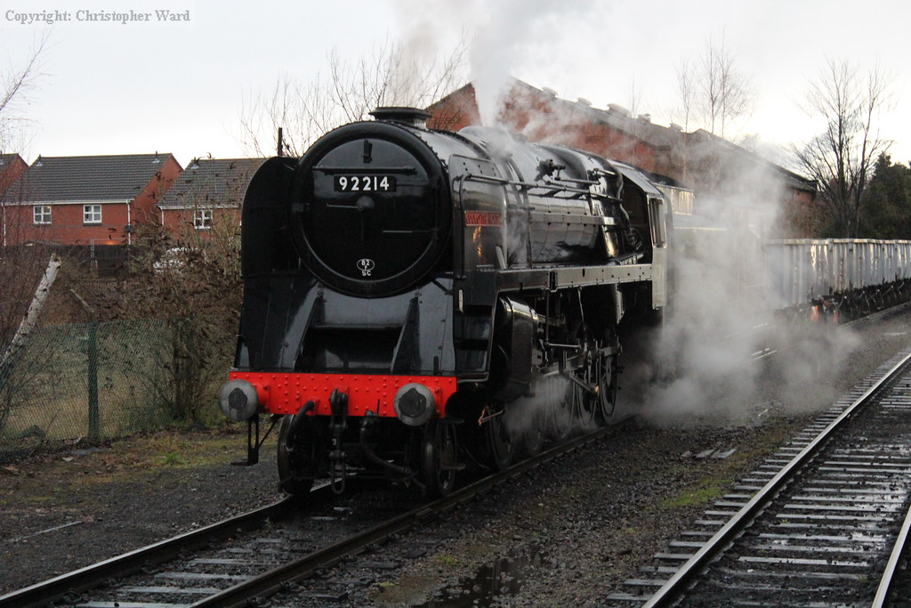 The 9F on the mineral wagons, it doesn't get much better