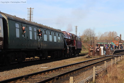 The 8f provides super-power for the short local train