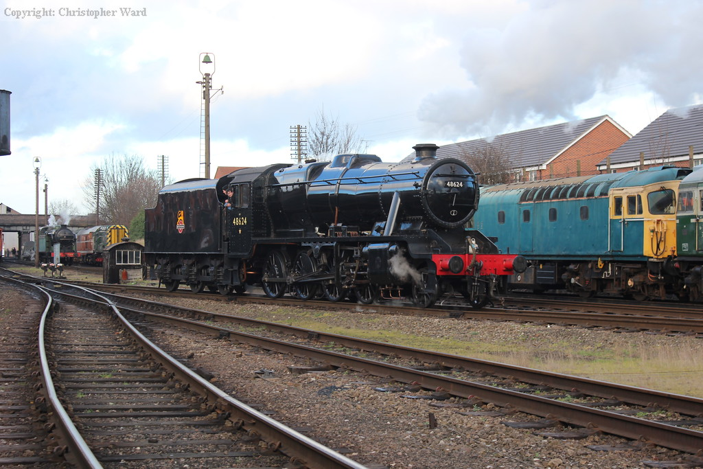 The 8F backs down onto a goods working