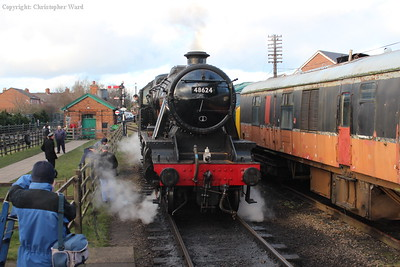 48624 pauses before dropping back onto a freight working at Loughborough