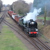 A whistle from the Bulleid as Sir Keith approaches Quorn with a freight working