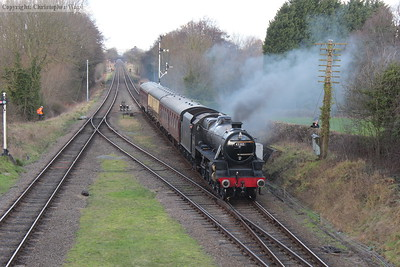 45305 slows for the Quorn stop with the local train