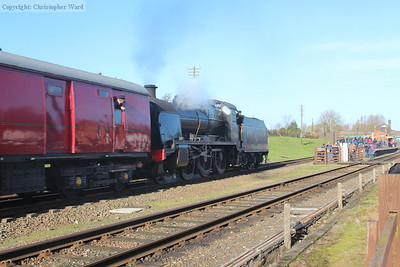 After a demonstration TPO run, the U class brings the ECS working back through Quorn on the way to Loughborough