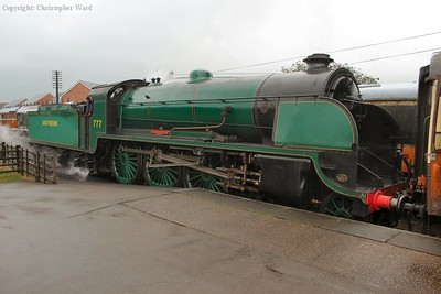 777 rests at Loughborough after her run