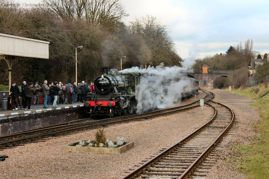 The 2MTs of Ivatt and BR varieties arrive at Leicester North