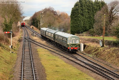 The DMU with buffet car added slows for the Quorn stop