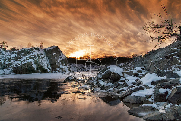 Great Falls - Winter Sunset