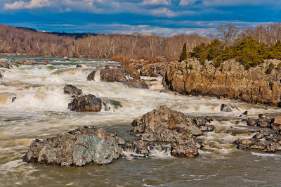 View of Storm Clouds and Potomac River, Great Falls Park, Virginia