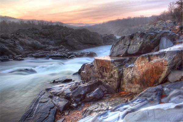 Great Falls Park, VA at Sunrise