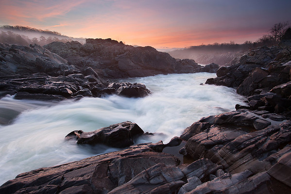 Great Falls Park at Sunrise