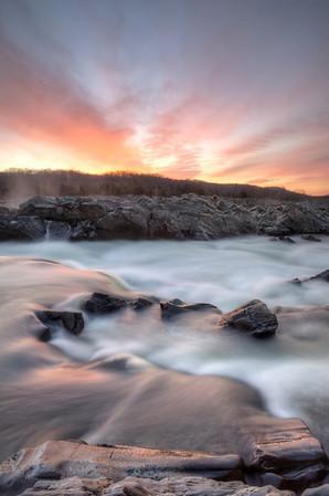 Sunrise in Great Falls Park, VA