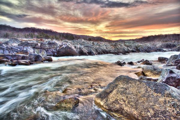 Colorful Sunrise in Great Falls